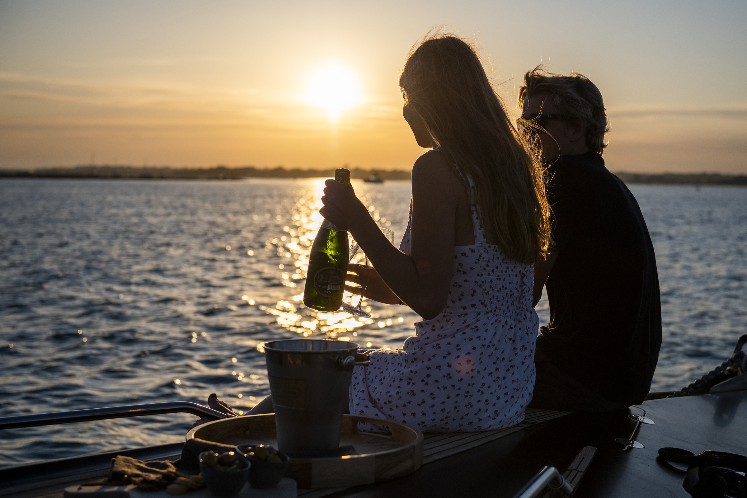 Crack open the champagne on AERO Power Boat Charters Lymington